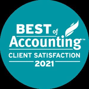 2021 Best of Accounting Award Logo